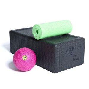 Blackroll Block Set - Mini Foam Roller, Massage Ball & Yoga Block Set